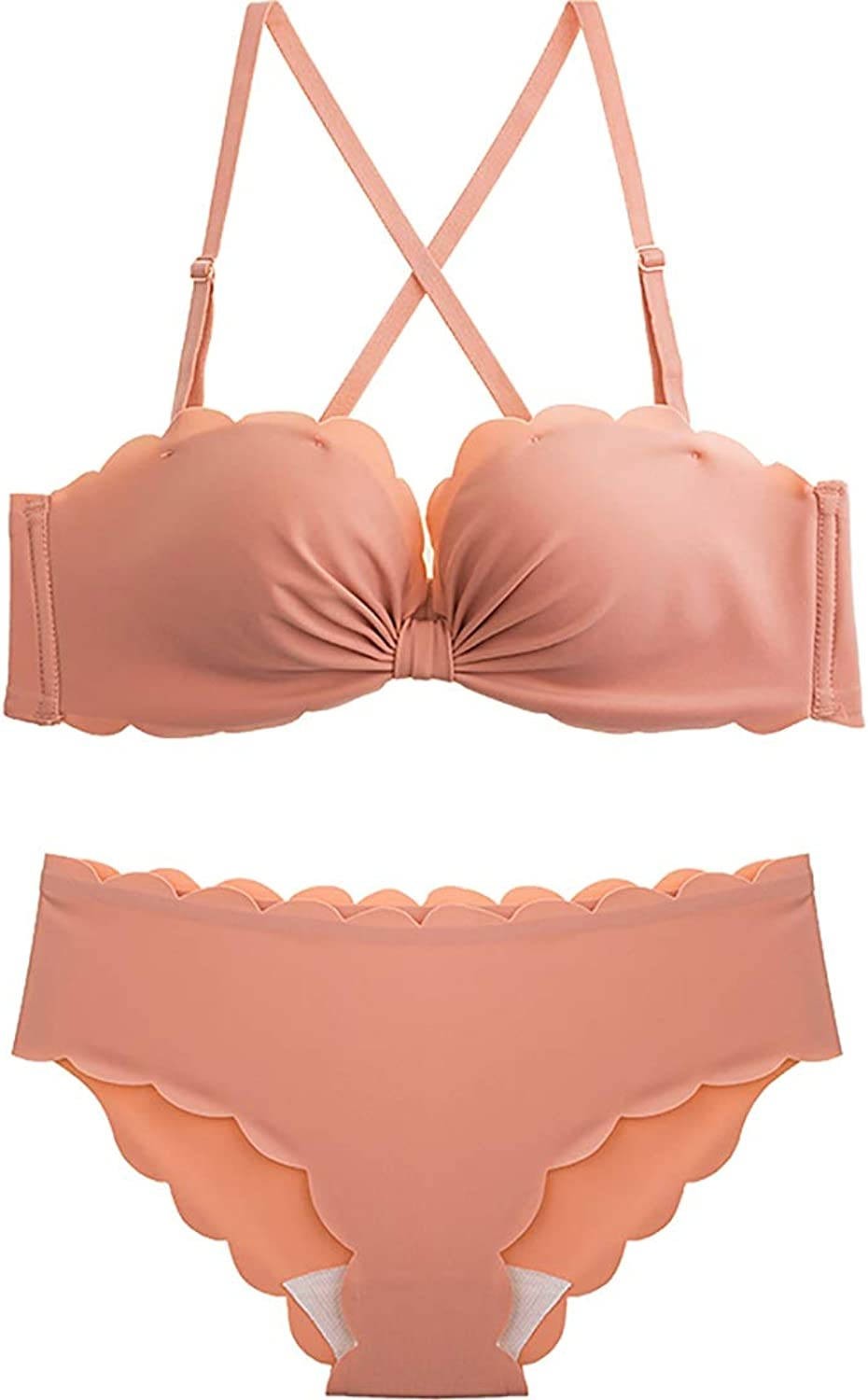 NICE' living hall UltraThin Girl Gathers Bra Set, Nylon and Sponge. No Steel Ring, Adjustable Chest, Adjustable Shoulder Strap, Two Rows of Buckles. Comfortable