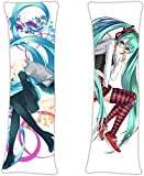 CGUOOB Hatsune Miku - Vocaloid Anime Sexy Girl Maid Costume Shame Posture Double-Sided Pattern Pillow Cover Decorative Otaku Natural Velvet Pillowcase Cosplay Gift(62.9in19.6in)