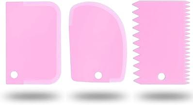 3 قطع من مكشطة الكعك البلاستيكية المرنة مكشطة للعجن وكشطة العجين لمكشطة الخبز والبيتزا، بطارية الكيك، الجليد، الفوندان وال...
