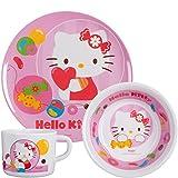 POS 68758 - Juego de Desayuno Hello Kitty (Incluye Plato, Bol y Taza)