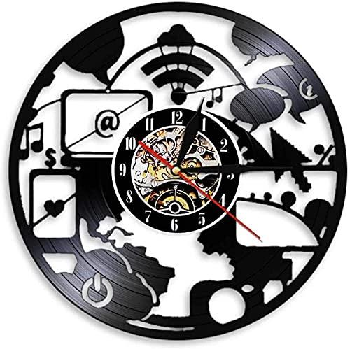 hhhjjj Moderno Geek led Disco de Vinilo Reloj de Pared Recuerdo Oficina Bar Sala de Estar decoración del hogar diseño Retro