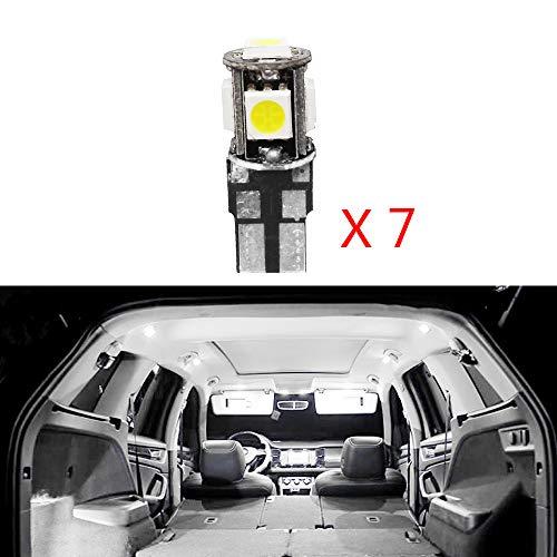 Cobear para 2008 3008 301 307 308 408 Super Brillante Fuente de luz LED Interior Lámpara de Coche Bombillas de Repuesto Blanco Paquete de 7