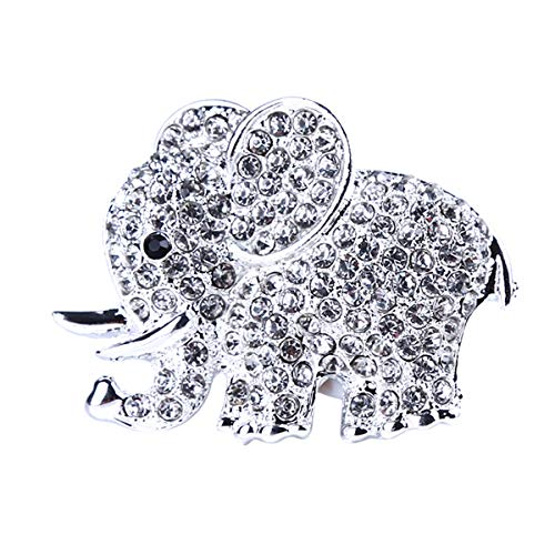 Beiswe Car Air Vent Decorative Clip Crystal Elephant Car Air Freshener Charm Car Interior Decors Ornament,Silver