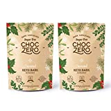 ChocZero's Dark Chocolate Peppermint Keto Bark. Sugar Free, Low Carb. No Sugar Alcohols. (2 bags, 12...