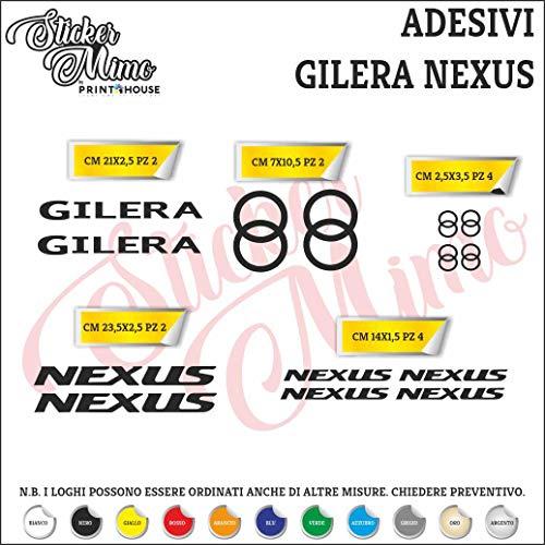 Gilera Nexus Decalcomania sticker, sponsor technieken, motorhelm, kleur PEGATINAS, Moto GP, stickers voor auto's, motorcross, motorcross, partnercompatibel