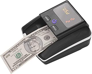 Portable Small Banknote Bill Detector Denomination Value Counter UV/MG/IR Detection with Battery Counterfeit Fake Money Cu...