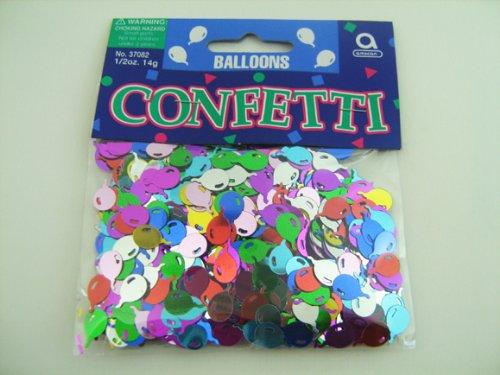 amscan International Confettis métalliques Ballons Multicolore