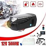 Triclicks Calentador de Aire Diesel, Calentador de Coche 5KW 12V, Furgonetas de calefacción de vehículos con Monitor LCD para Furgonetas, Camiones, remolques de automóviles, Barcos (Black 01)
