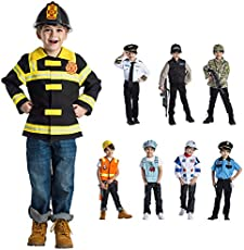 Dress Up America Pretend Play Costumes - Role-Play and Dress-Up for Kids (Firefighter)
