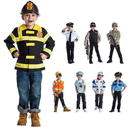 Dress Up America Chef pompier jeu de rôle Costume pour les enfants âgés de 3-6