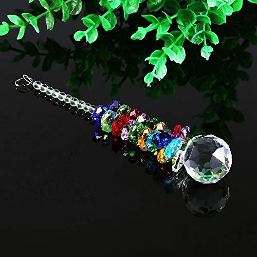 Vit färgglada Suncatcher-hängande, dekor för bollprismapendel, för fönsterlampa