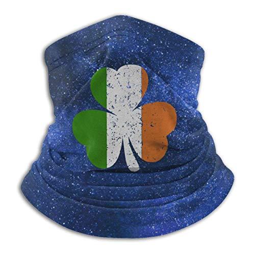Teemoo Irland Kleeblatt Irische Flagge Halswärmer Outdoor Gesicht Mundschutz Schild für Staub Winddicht Sportschild Schal Bandana