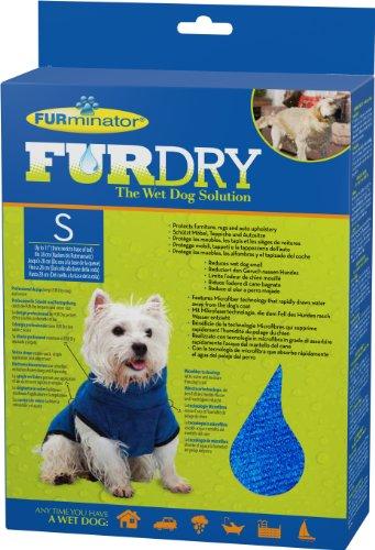 FURminator FUR Dry für Hunde (klein, bis 28 cm Körperlänge, blau)