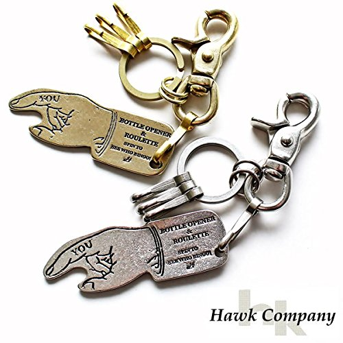 [ホークカンパニー]HawkCompanyボトルオープナー&ルーレットキーホルダー12-7529(02/シルバー)