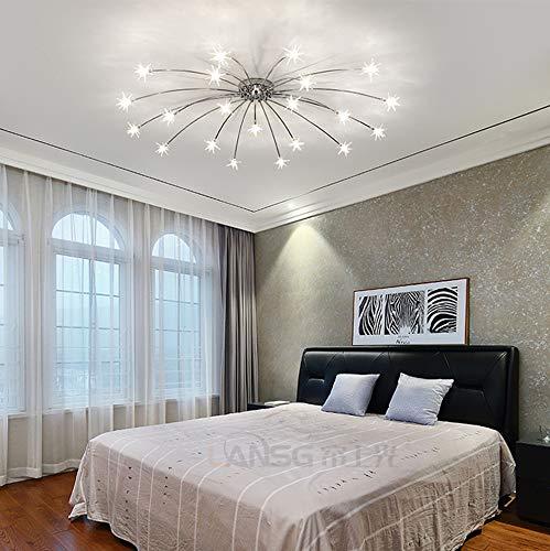 Deckenleuchte LED Modern Deckenlampe Stern Styling Acryl Lampeschirm Wohnzimmer Leuchte Eisen Deckenbeleuchtung Romantische Chic Design Schlafzimmer Küche Esszimmer Kronleuchter G4 Innen Decorlampe