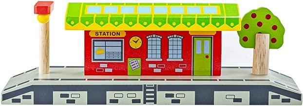 Bigjigs Rail Village Station - Other Major Wooden Rail Brands are Compatible