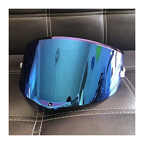 Tokyoo Casco de Motocicletas Sun Visor Goggles Lens Fit para A-G-V Pista GP RR Corsa R GPR 70 Aniversario Visores de Motocicleta Escudo (Color : Blue)