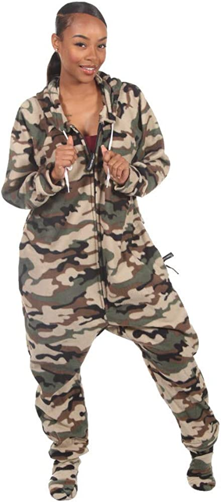 One-Piece Pajama Jumpsuits Forever Lazy Adult Onesies with Detachable Feet for Men and Women Unisex