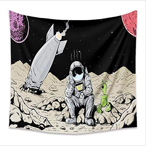 Tapiz de decoración de astronauta tapiz de pared de universo colorido dormitorio Romm dormitorio espacio secreto colgante de pared-150x100cm