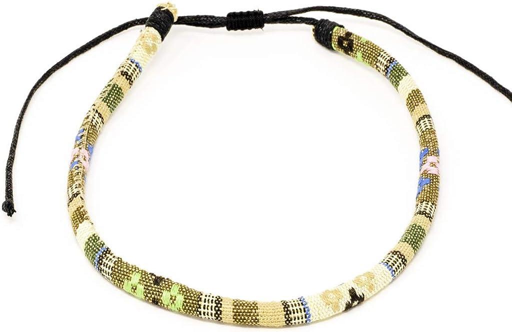 Charming Shark Hippie Choker Necklace - String Beaded Short Choker Necklace Jewelry, Adjustable Handmade Friendship for Women's, Teen Girls