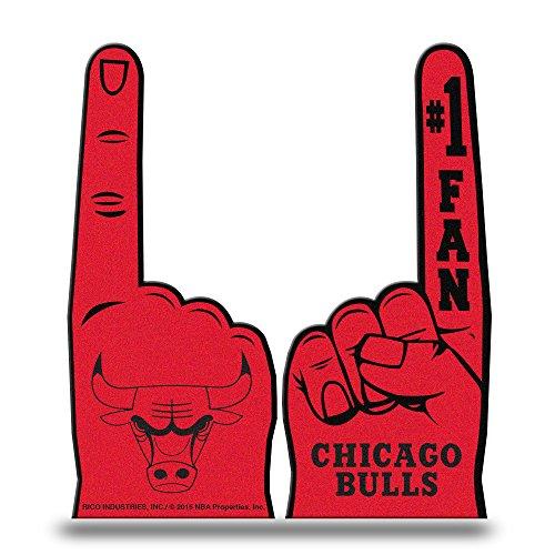 Rico Industries NBA Chicago Bulls #1 Fan Flat Foam Finger