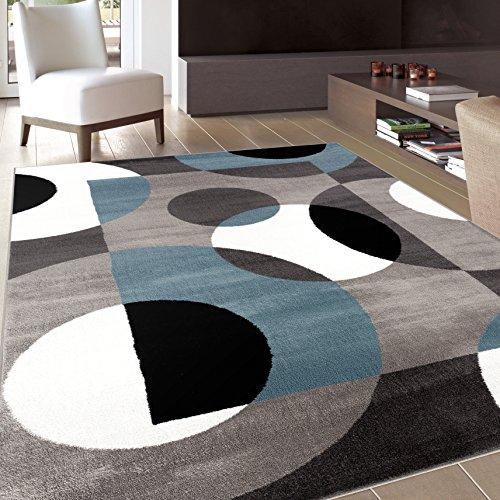 "Rugshop Modern Circles Area Rug, 5' 3"" x 7' 3"", Blue"