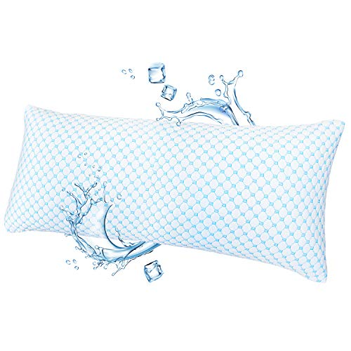 Nestl Bedding Collest Pillow Heat and Moisture Reducing Ice Silk and Gel Infused Memory Foam Pillow. Adjustable, Washable, Breathable -...