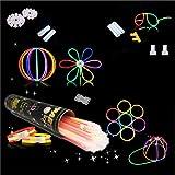 Applife Braccialetti Luminosi Starlight Fluorescenti BRACCIALI Disco Fluo DJ (231 Pezzi)