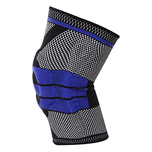 ENticerowts 1 Stück Knieschoner Nylon Stützbandage Kompressionspad Bandage Schutz atmungsaktiv Komfort-Knieschutz Sport Laufen Fitness, Nylon, Schwarz, Large