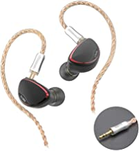 BQEYZ Spring 2 HiFi in-Ear Monitor Headphones Hi-Res Audio IEM Earphones with Detachable Cable Triple Hybrid Technology Clarity and Bass Combined Musician Headset(Earphone Jack 3.5 mm,no mic)