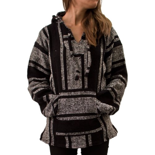 Cleverbrand Jerga Poncho Unisexe Noir Taille XXL