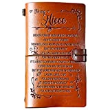 PRSTENLY Birthday Gift for Niece to My Niece Leather Journal, 140 Page Refillable Journal Notebooks, Travel Diary Back to School Encouragement Gift for Niece from Aunt Uncle