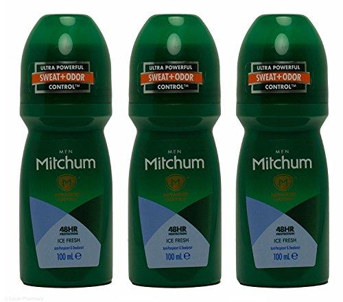 Multibuy Mitchum Men AdvancedTM Ice Fresh - Juego de 3 desodorantes antitranspirantes, 100 ml