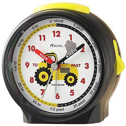 Ravel Children's Bedside Alarm Clock - Black Tractor