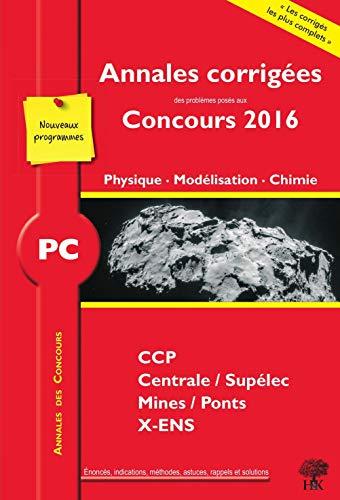 PC Physique, Modélisation, Chimie