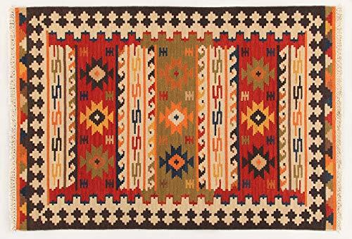 Kilim Carpets by Jalal Alfombra Kilim Sivas 2 Rojo/Multicolor 60 X 90 cm