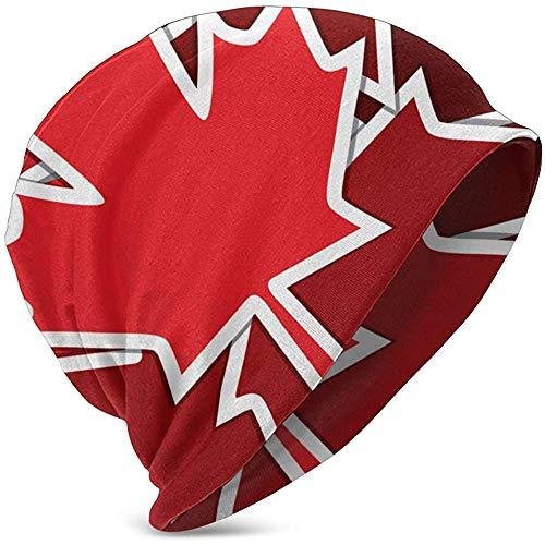 Autocollant Carte Scatter Fête du Canada de Canadian Holidays Chapeaux en Tricot Chauds pour Enfants, Chapeau de Bonnet Extensible, Bonnet de tête de Mort pour garçons, Filles