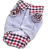 Chemise De Chien,Manteau pour chien,Drap chaud pour l'hiver Chien Tissu Chiot Chien Chat Gilet Vêtements Costume Femelle Mâle Petit Chien