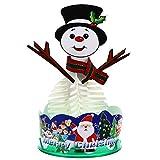 BESPORTBLE 1 Juego Árbol en Crecimiento Árbol de Navidad de Cristal Decoración Árbol de Papel en Flor navideñas Decoraciones ()