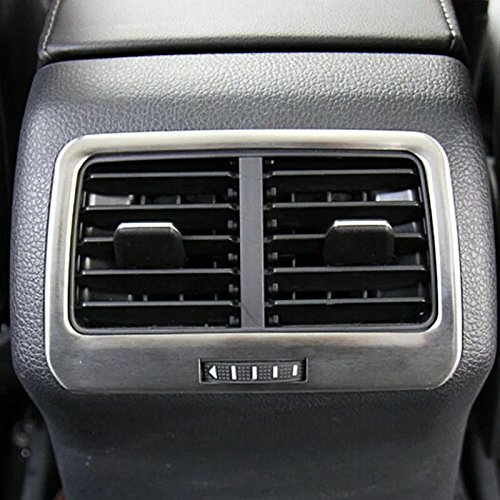 Emblem Trading Luftdüsen Lüftung Rahmen Blende Hinten Edelstahl Mittelkonsole Für Golf 7 Armaturenbrett Verkleidung Autozubehör