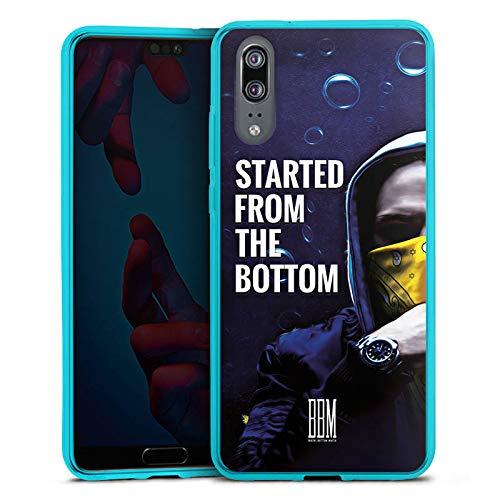 DeinDesign Silikon Hülle transparent hellblau Case Schutzhülle für Huawei P20 Spongebozz Started from The Bottom Merchandise