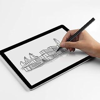 KWOW タッチペン NEC 11.5型 Android タブレットパソコン LAVIE T1195/BAS対応 タブレット スタイラスペン Bluetooth不要 接続簡単 スラスラ カーボンファイバー製ペン先 充電式 (ブラック)