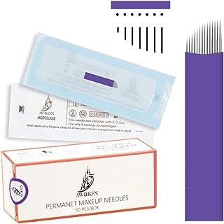 AWAKEN Microblading Nålar Needles 21Pin Flat Sloped för ögonbryn läppar Disponibel Steril Eo Gas Permanent Smink Tattoo 0....