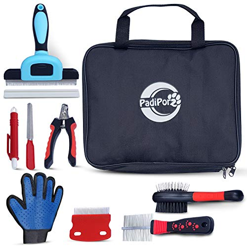 Padiporz Professional 8-Piece Grooming Kit for Dogs