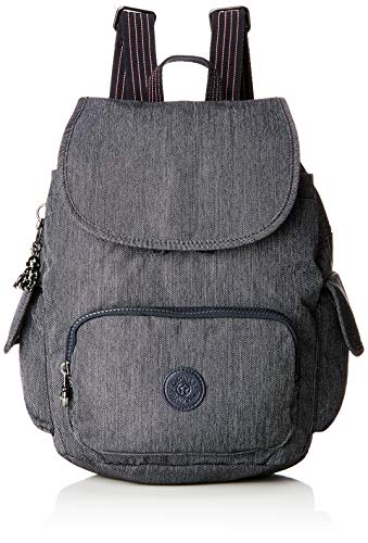 Kipling Damen City Pack S Rucksack, Blau (Active Denim), 27x33.5x19 cm
