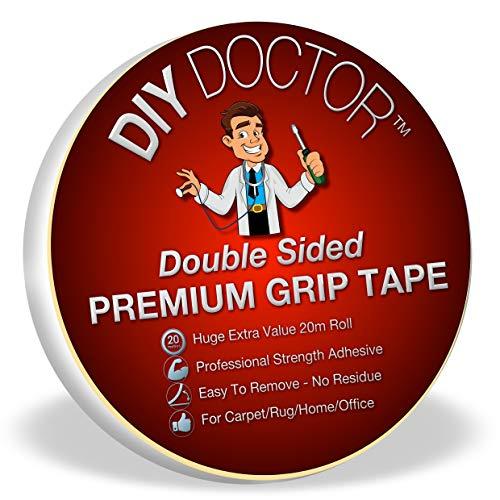 DIY Doctor DDT Xtra Sterk Dubbelzijdig Tapijt Vloerbedekking Kleed Grip Tape-Ultieme Grip Kracht-Hecht Zich aan Bijna Alles Maar Laat Geen Sporen Achter-Zo Veel Toepassingen