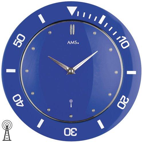 AMS Orologio da Parete–Cupola Funk–di Plastica–Blu