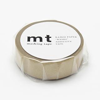 "MT Solids Washi Paper Masking Tape, 3/5"" x 11 yd, Gold (MT01P205)"