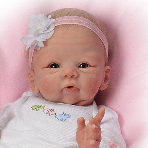 The Ashton-Drake Galleries Tasha Edenholm Snuggle Bunny Lifelike Poseable and Weighted Baby Girl Doll - 17'