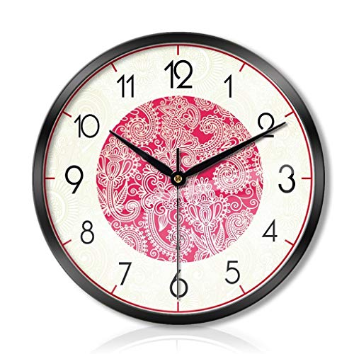 LLLKKK Reloj de pared con iluminación para salón, dormitorio, creativo, de metal,...